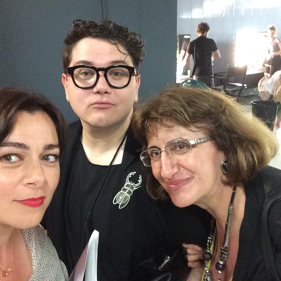 Cu doamna Olga Stanciu si Lucian Broscatean