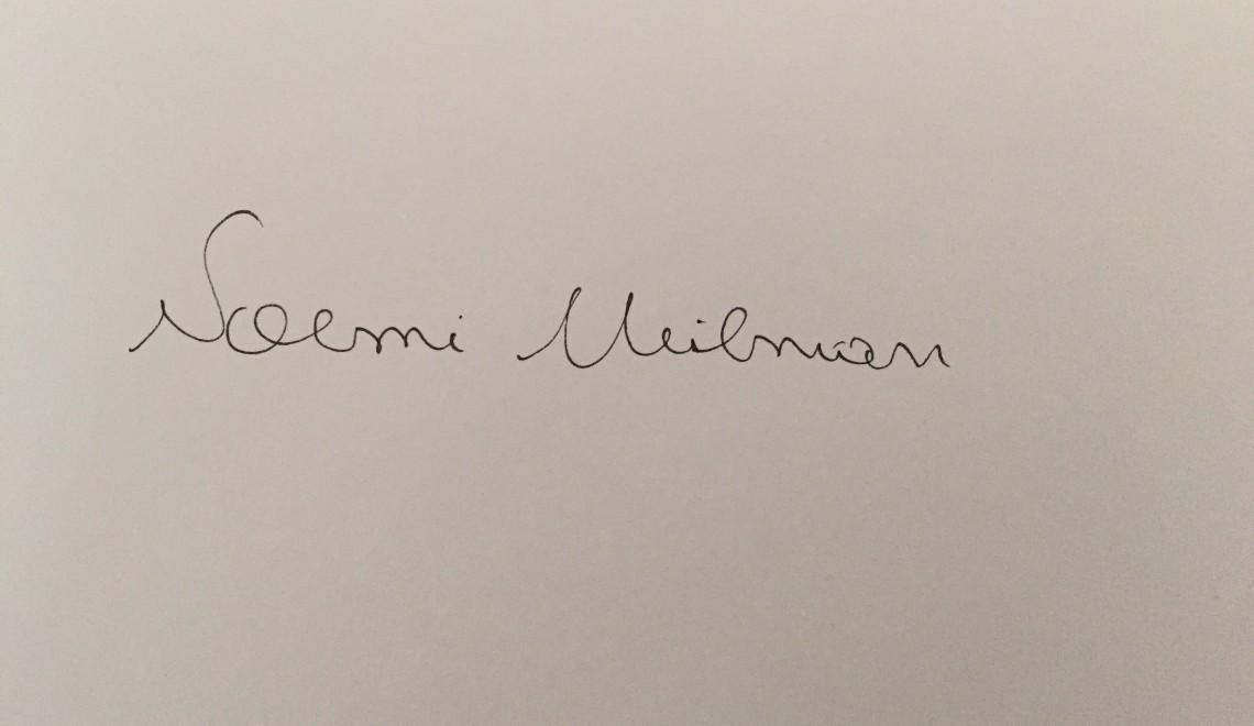Questionnaire de Proust revizuit și corectat de Noemi Meilman